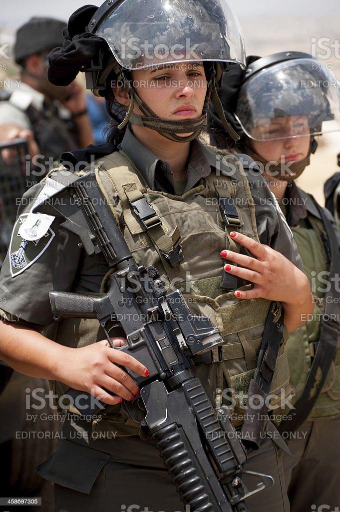 Israeli female soldier stock photo