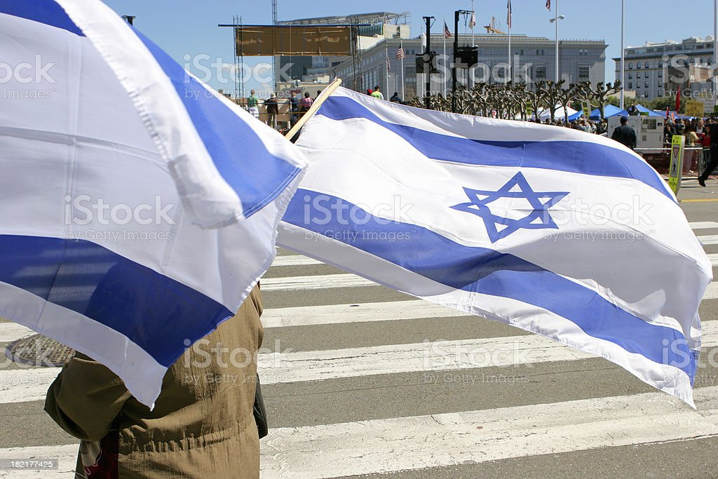 Israeli Flag royalty-free stock photo