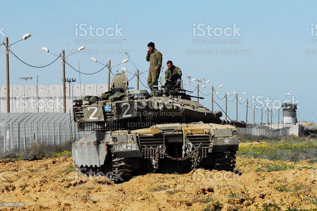 Israeli IDF Tank - Merkava stock photo