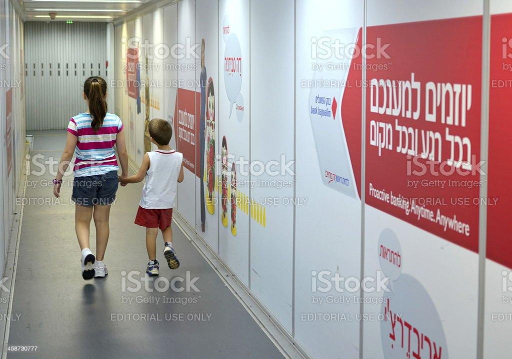 Israeli jet bridge royalty-free stock photo