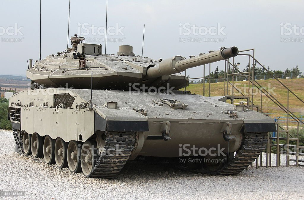 Israeli Merkava Mk IV tank royalty-free stock photo