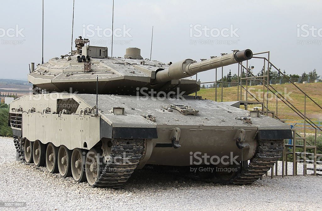 Israeli Merkava Mk IV tank stock photo