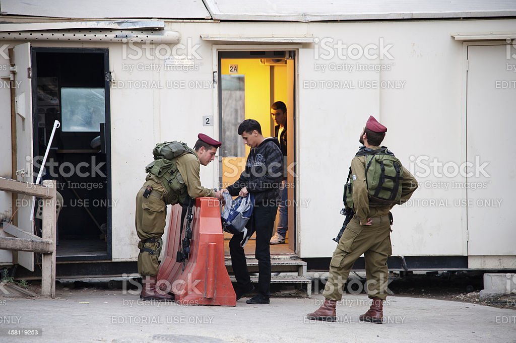 Israeli Military Checkpoint royalty-free stock photo