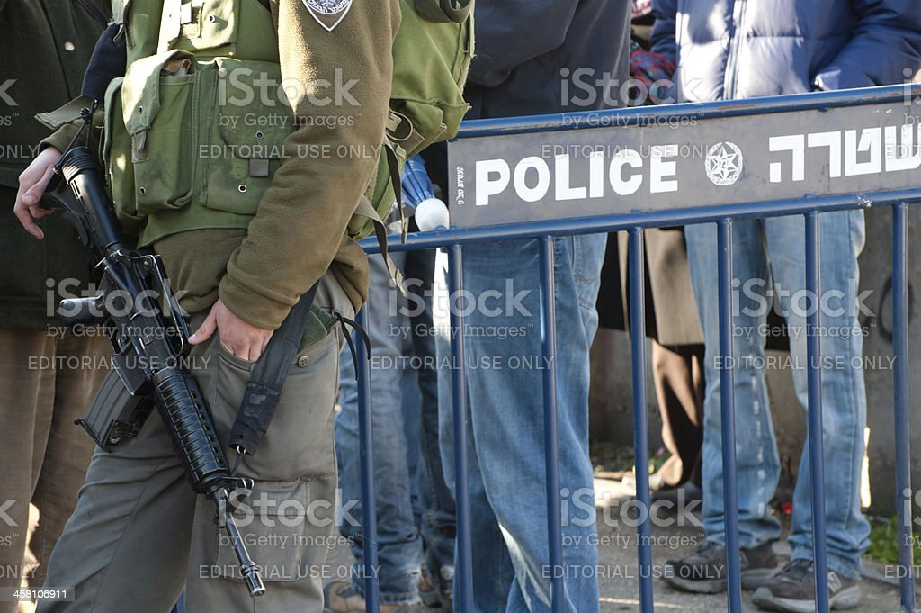 Israeli Military Police stock photo