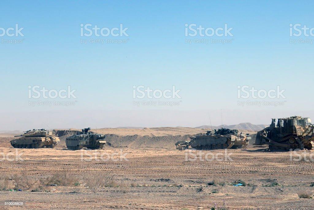Israeli military unit training stock photo