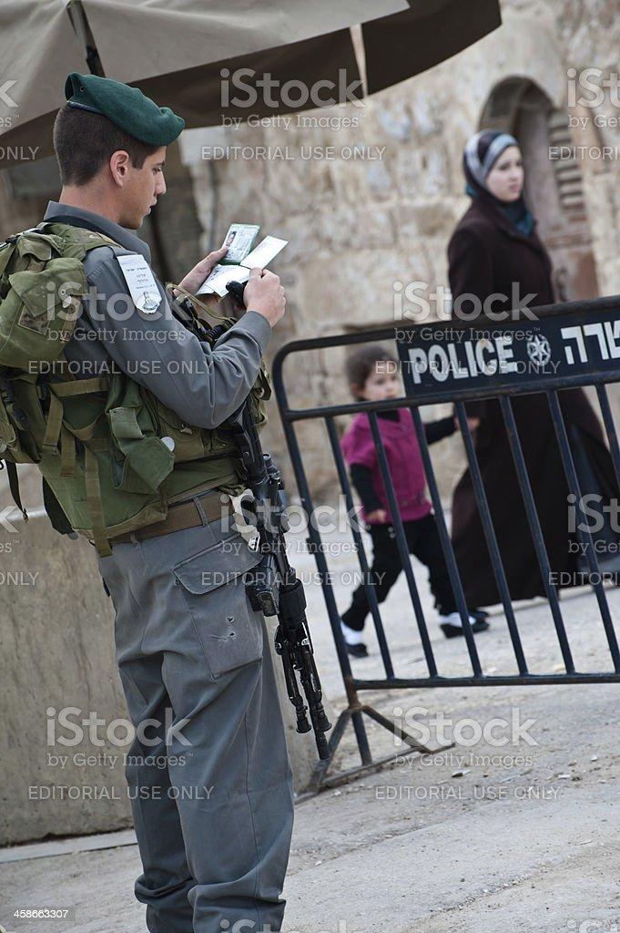 Israeli Occupation in Hebron stock photo