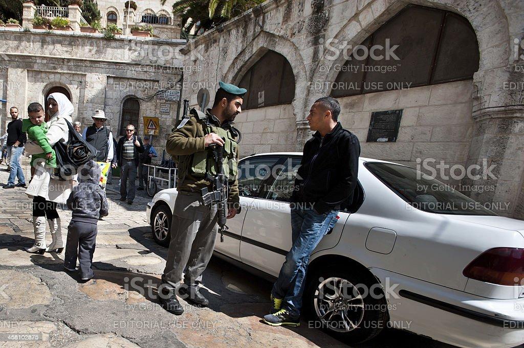 Israeli Occupation in Jerusalem stock photo