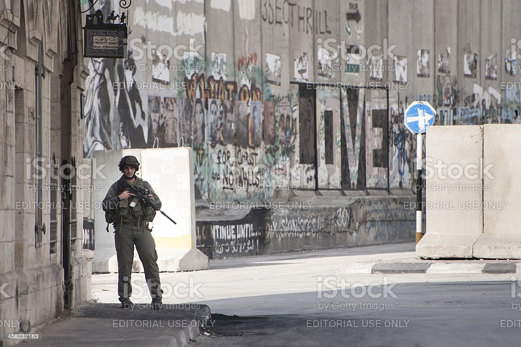 Israeli occupation in West Bank royalty-free stock photo