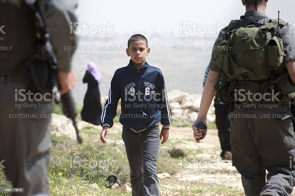 Israeli Occupation Soldiers in Palestine stock photo