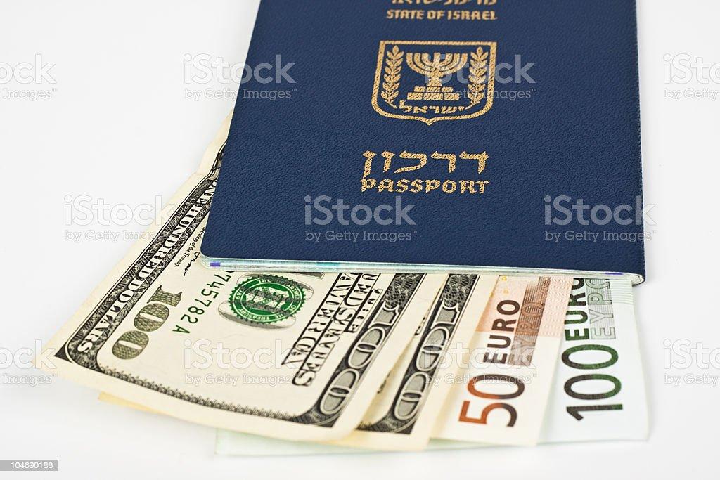 israeli passport royalty-free stock photo