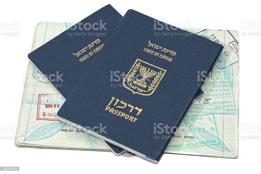 Israeli passports royalty-free stock photo