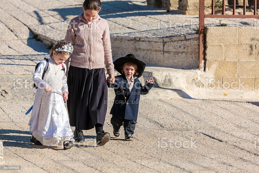 Israeli people using roofs for walking stock photo