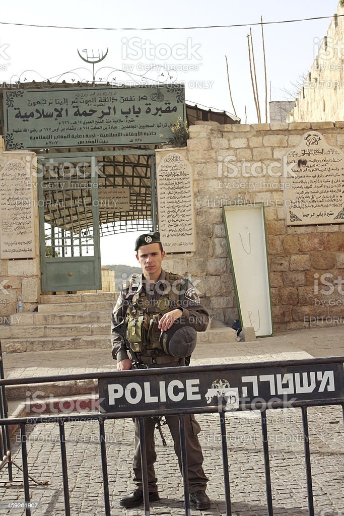 Israeli Police royalty-free stock photo