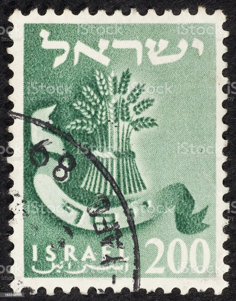 Israeli postage stamp stock photo