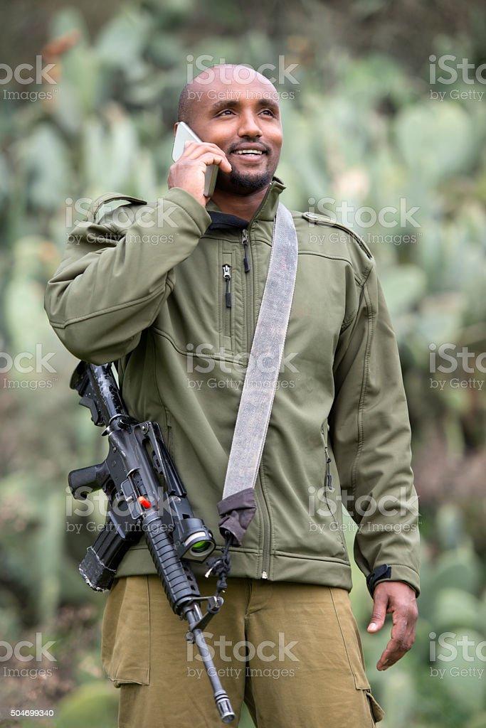 Israeli reservist. stock photo
