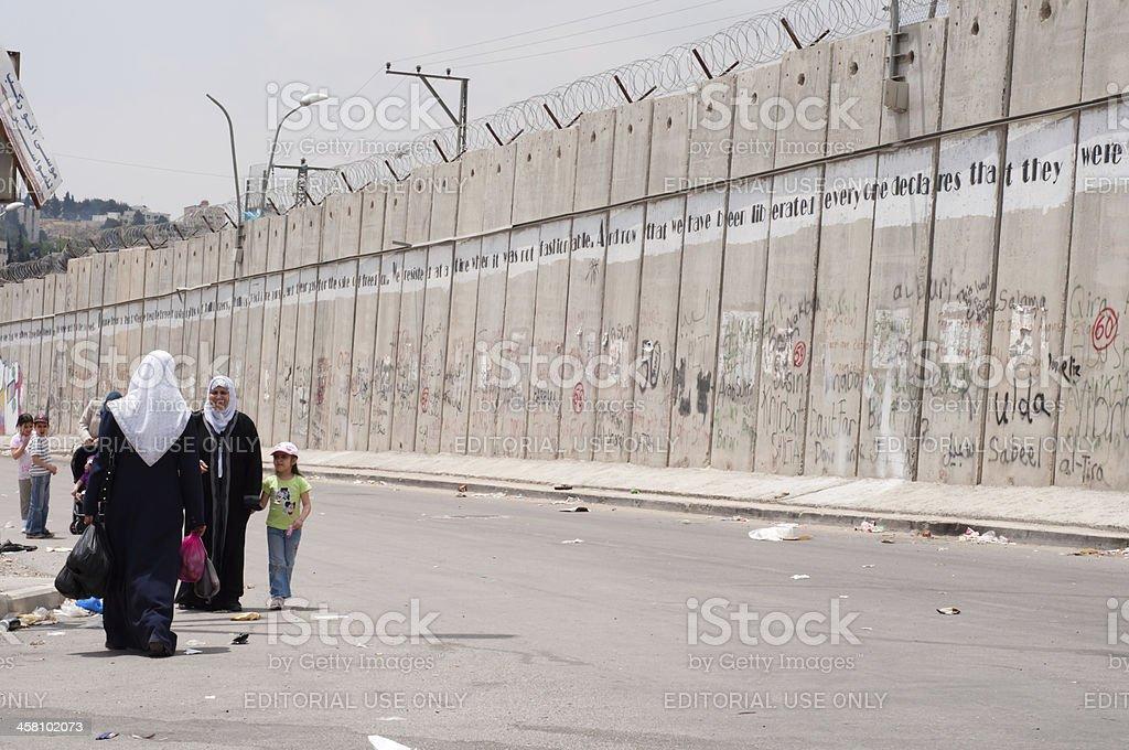 Israeli Separation Barrier stock photo