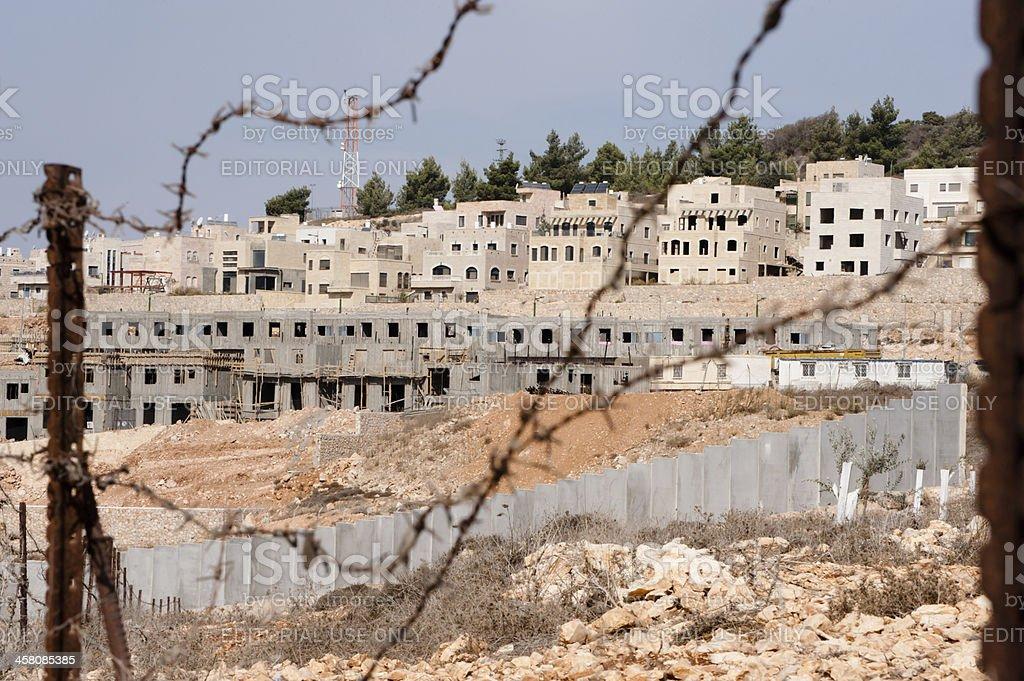 Israeli Settlement Construction stock photo