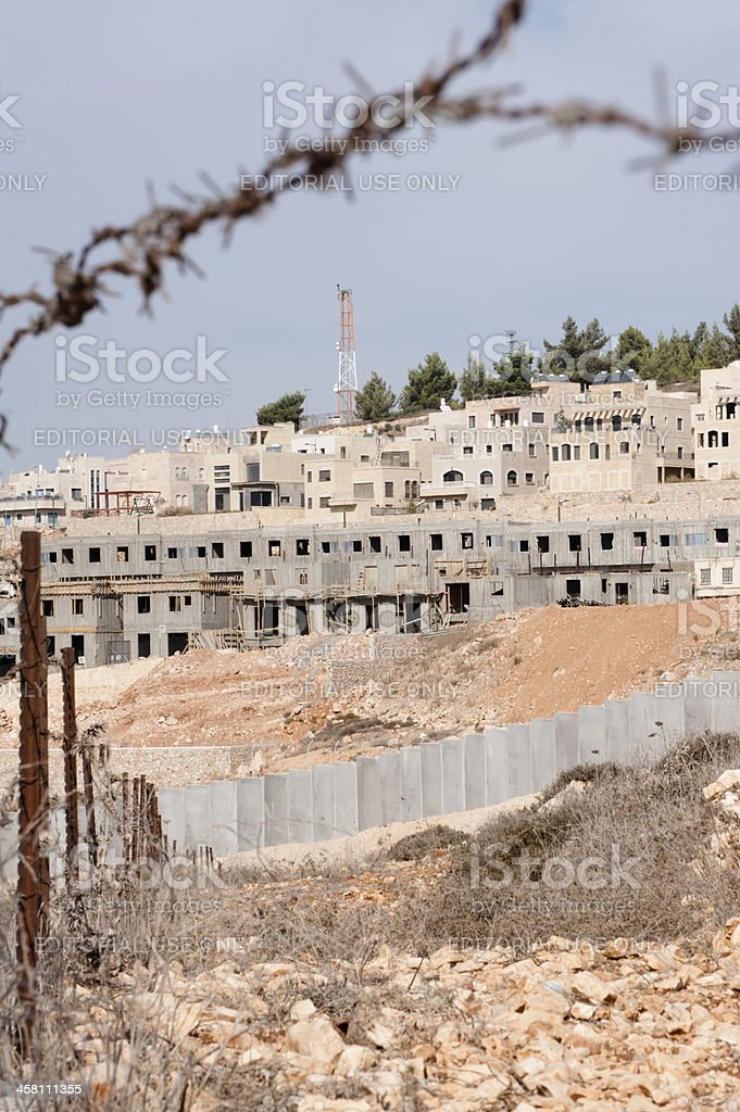 Israeli Settlement Construction royalty-free stock photo