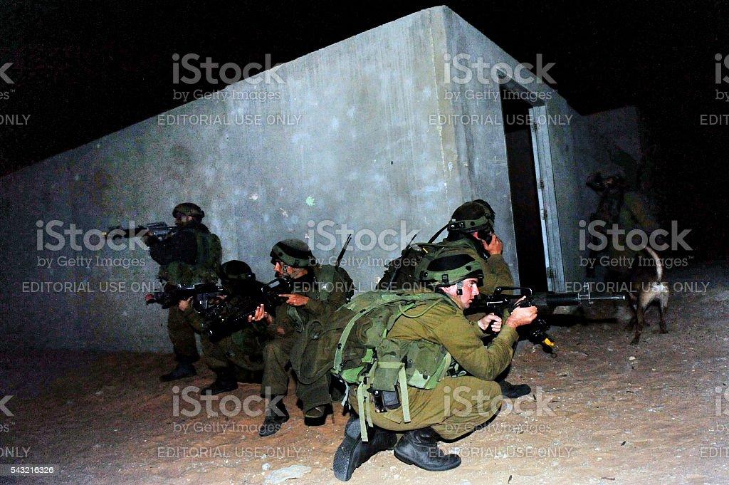 Israeli soldier during Urban Warfare stock photo