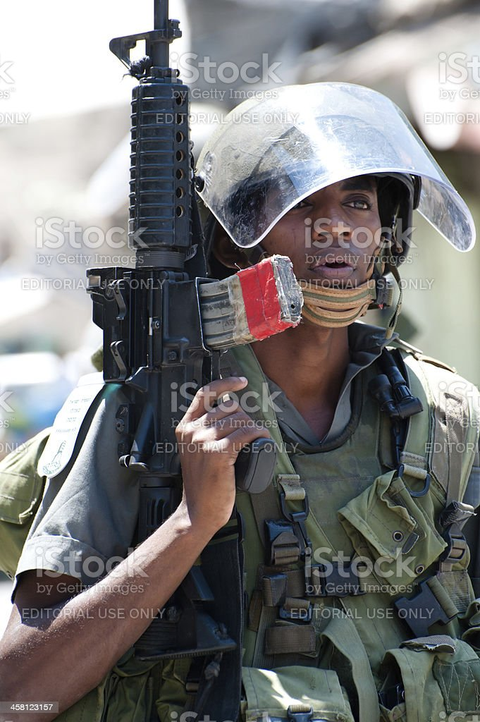 Israeli Soldiers in the West Bank royalty-free stock photo
