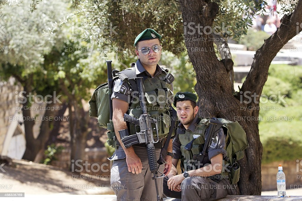 Israeli soldiers royalty-free stock photo