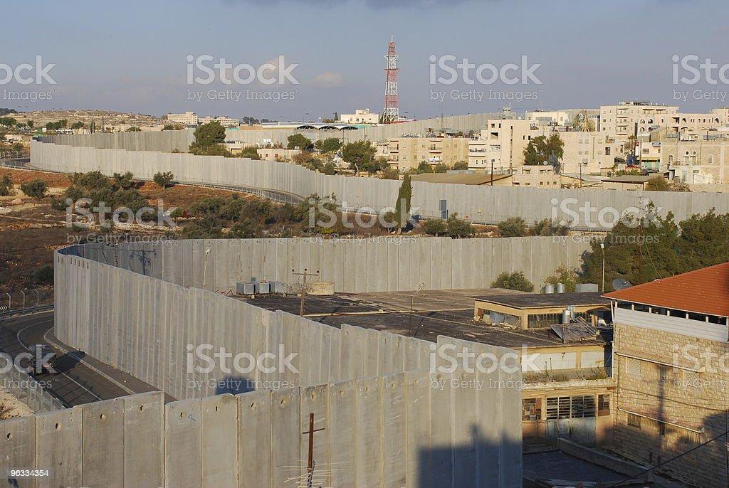 Israel's Security Barrier on edge of Bethlehem stock photo