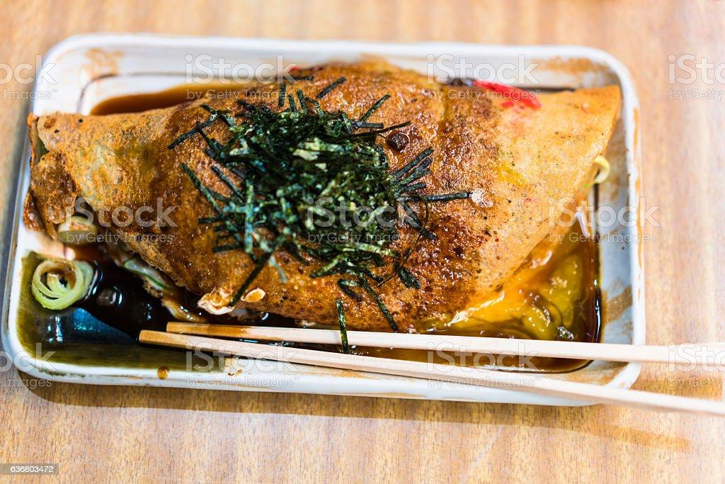 Issan Yoshoku is Okonomiyaki Kyoto style, Japan stock photo
