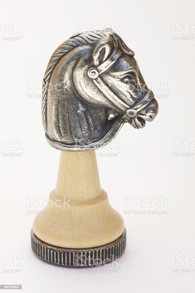 Issolated Chess Knight stock photo