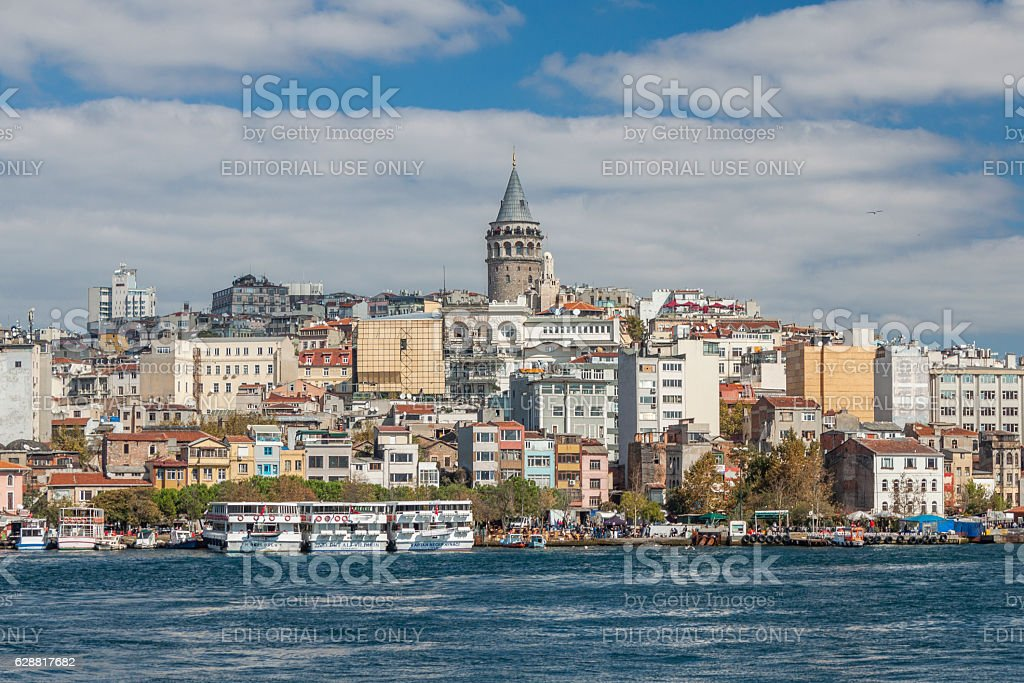 Istanbul and Galata Tower. stock photo