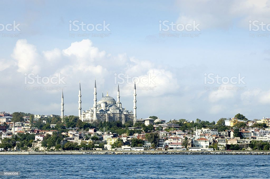 Istanbul as seen from Bosphorus royalty-free stock photo
