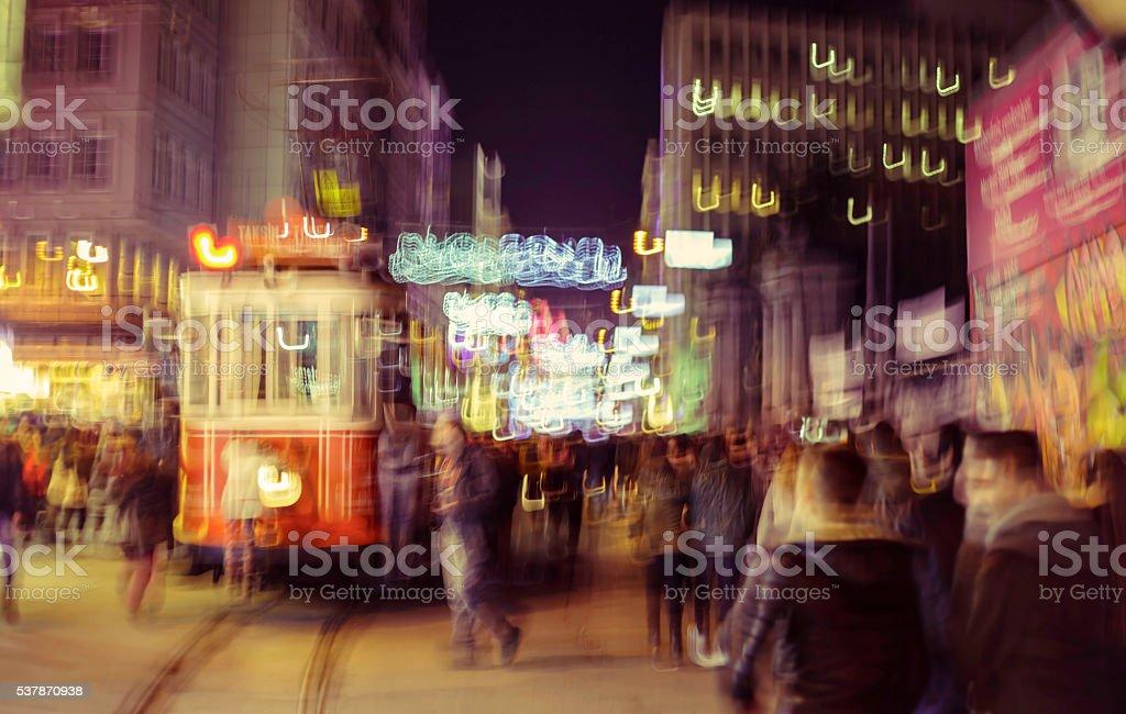 Istanbul at night stock photo