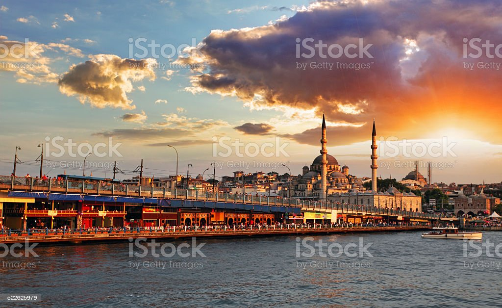 Istanbul at sunset stock photo