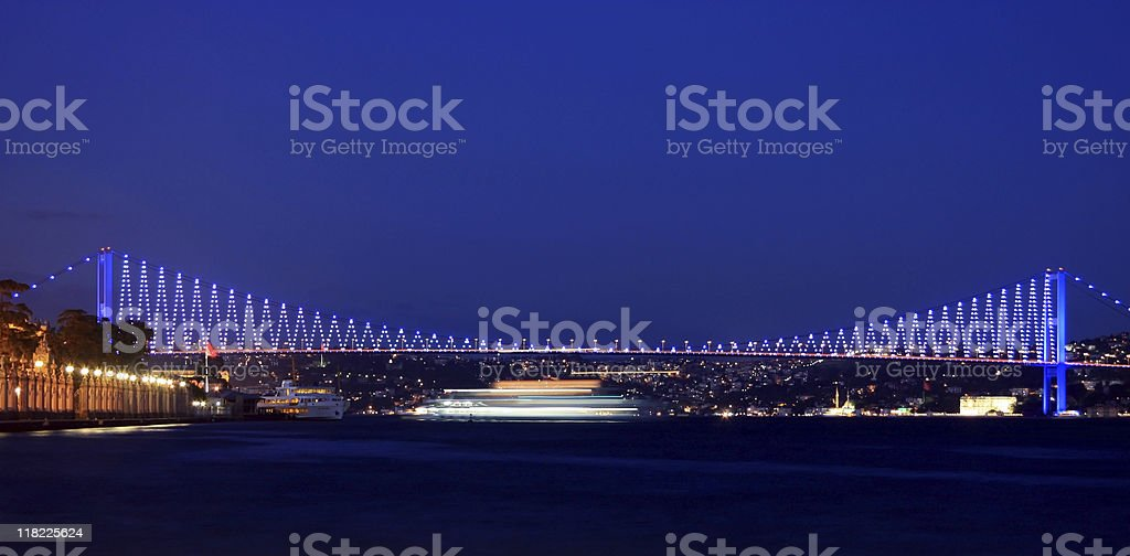 Istanbul Bosporus Bridge royalty-free stock photo