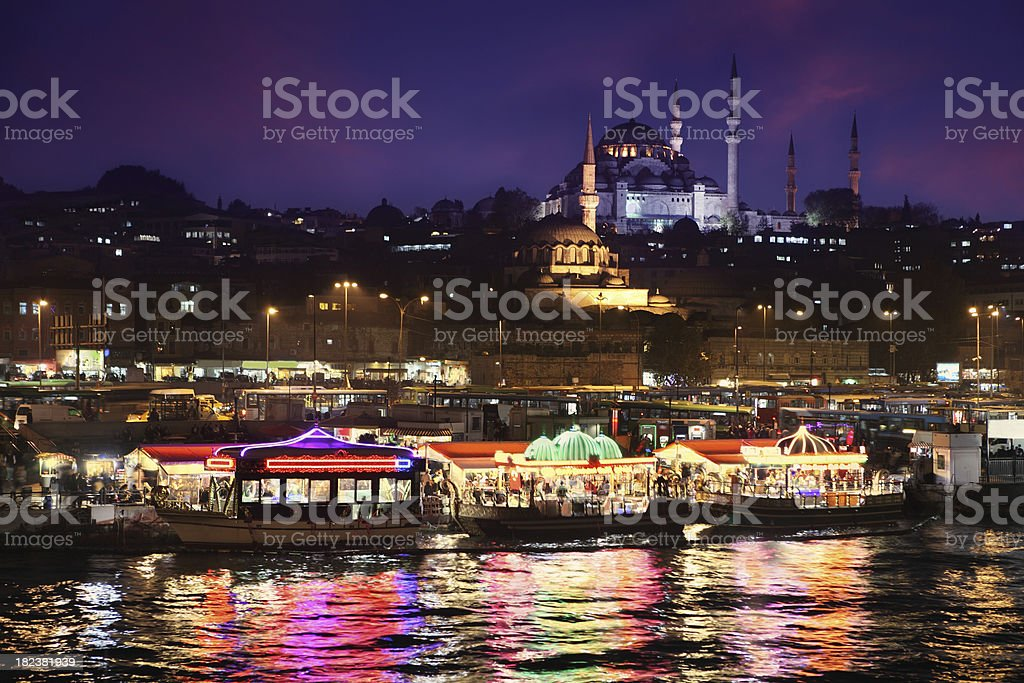 Istanbul by Night royalty-free stock photo
