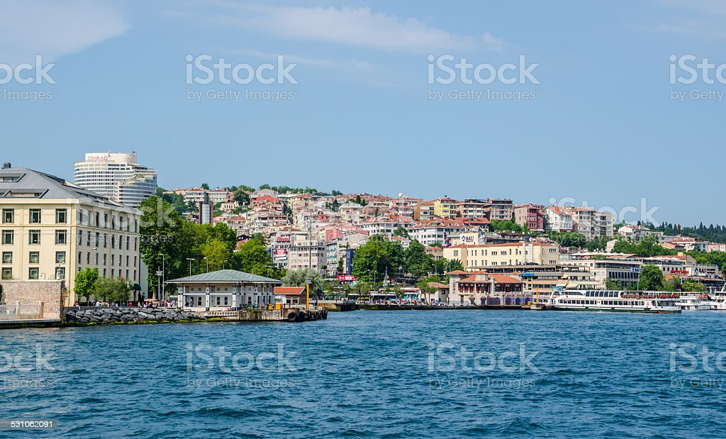 Istanbul city around Bosphorus strait stock photo