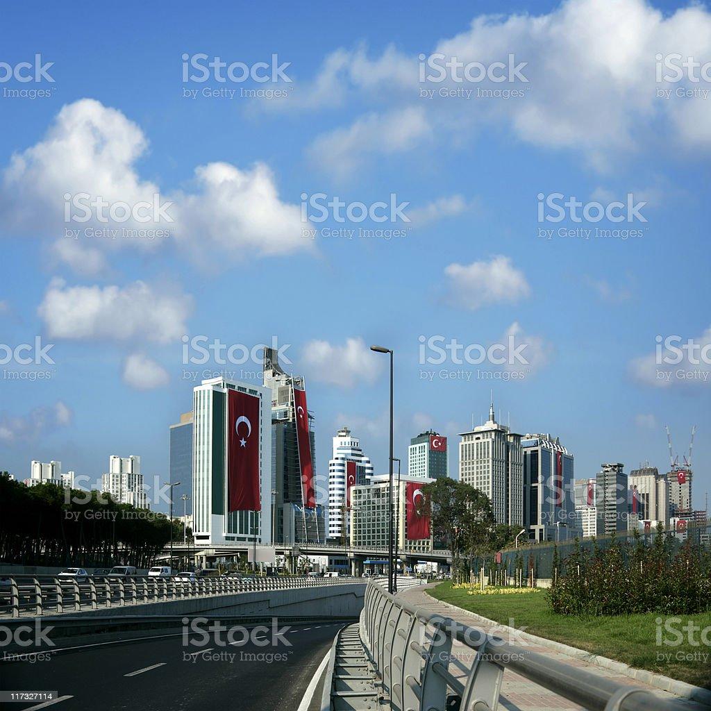 istanbul cityscape royalty-free stock photo