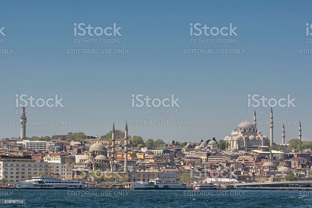 Istanbul Cityscape, Turkey stock photo