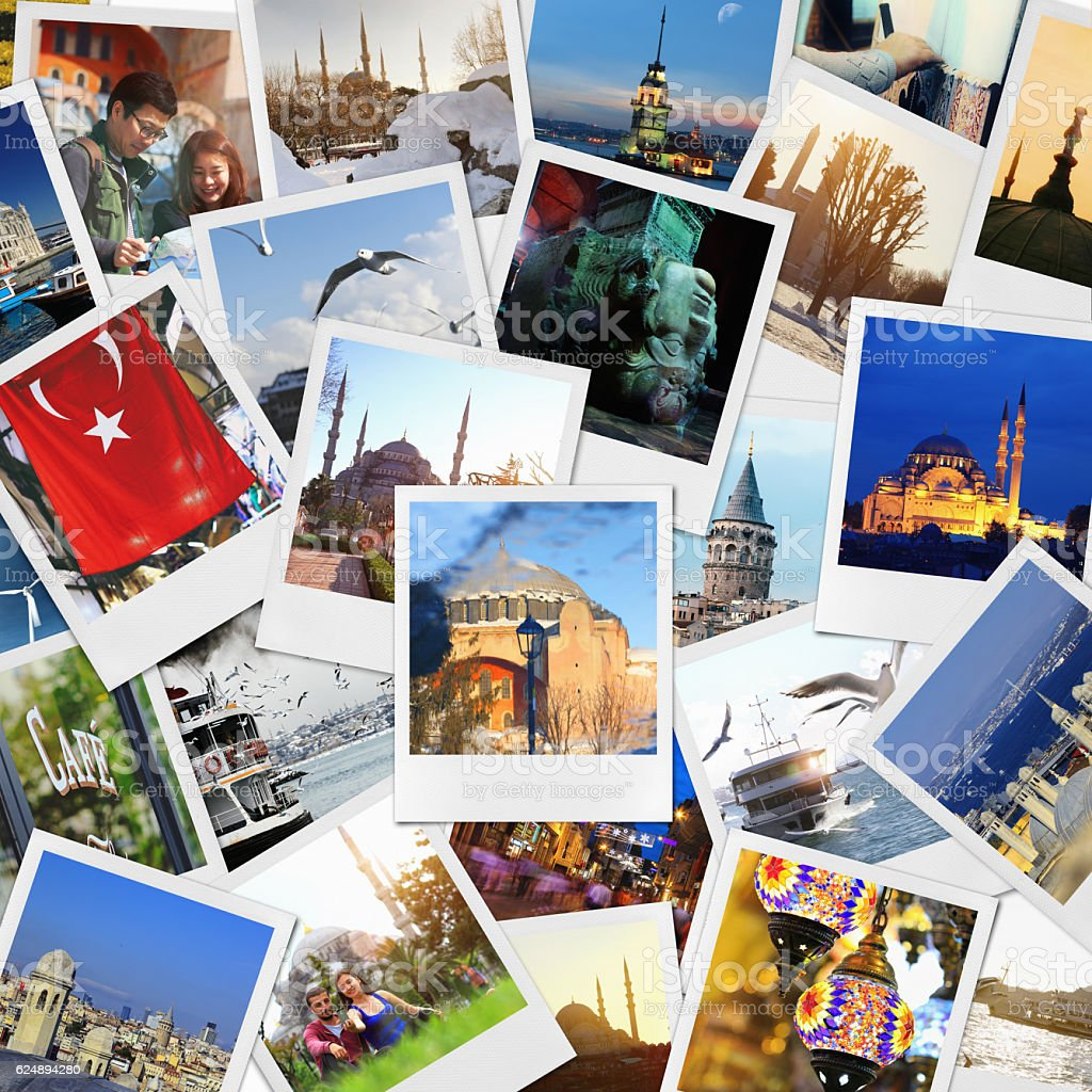 Istanbul Collage stock photo