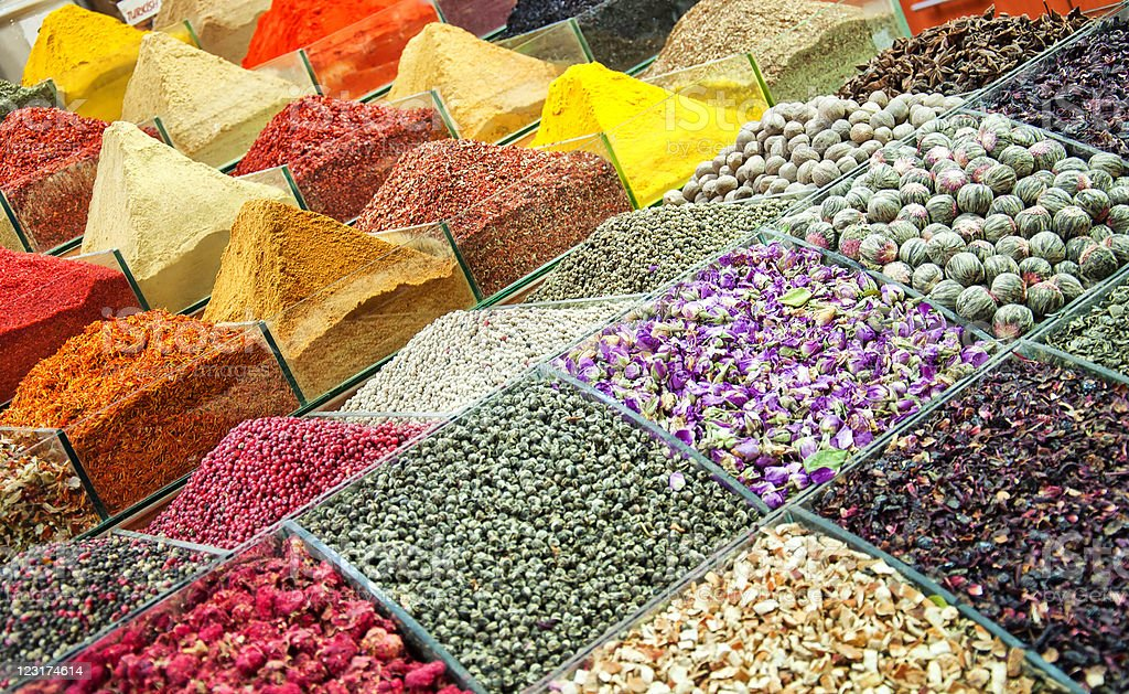 Istanbul egyptian spice market royalty-free stock photo