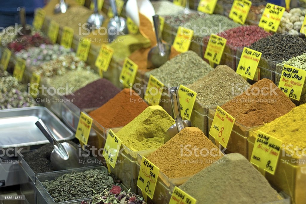 Istanbul egyptian spice market royalty-free stock photo