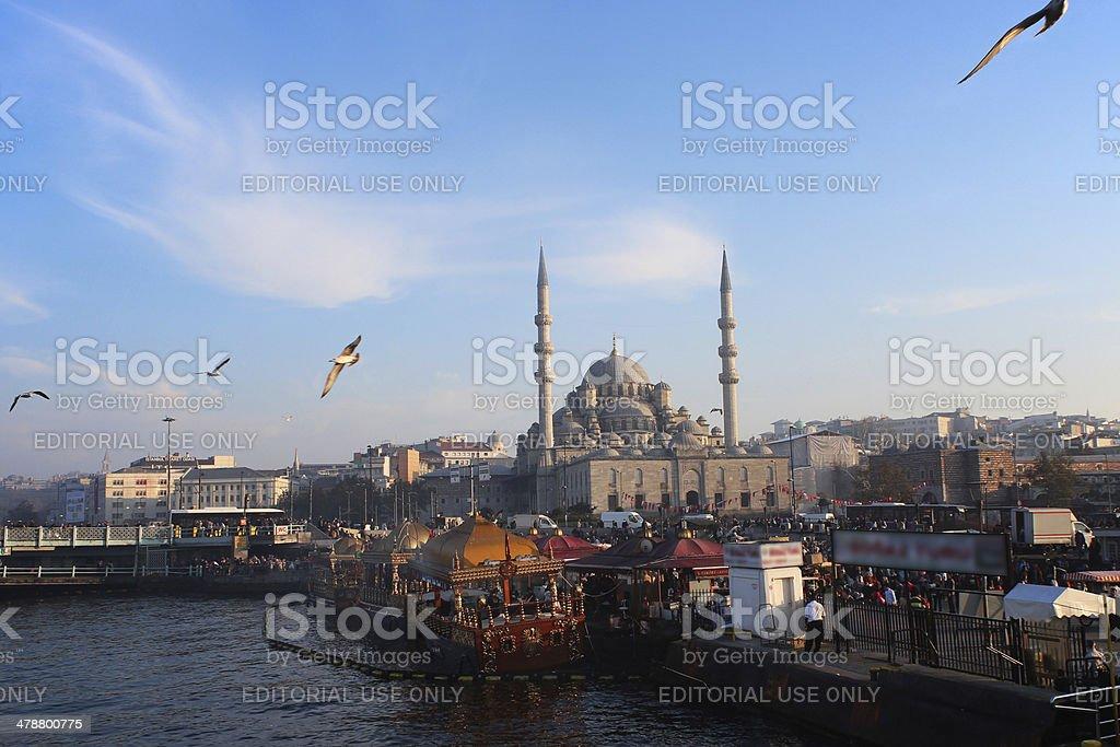 Istanbul Eminonu Fish Boats stock photo