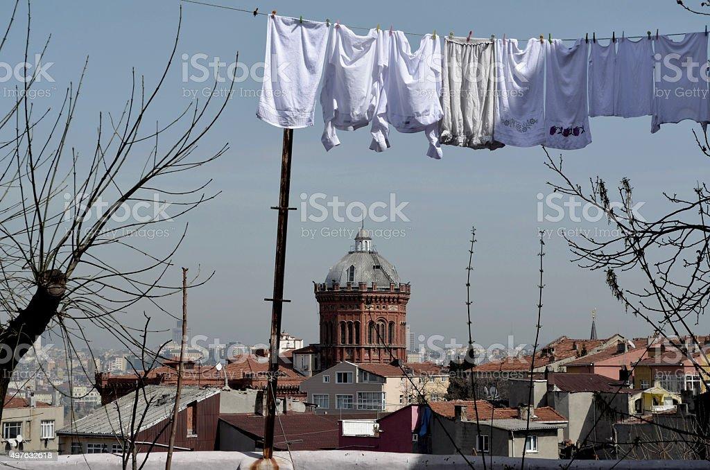 Istanbul, Fener district with Phanar Greek Orthodox College stock photo