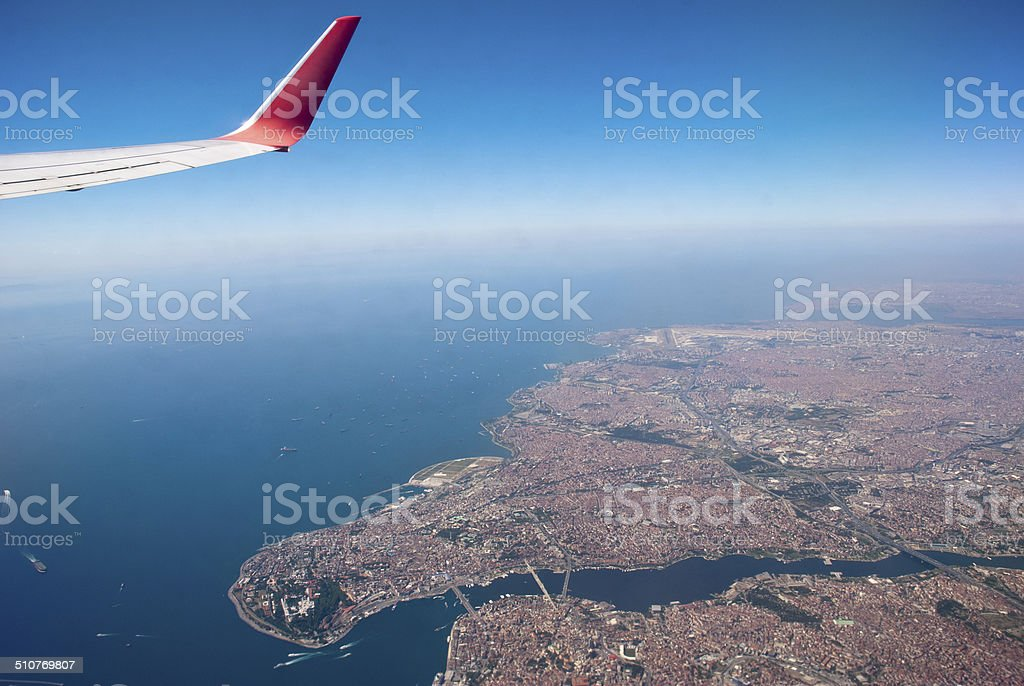istanbul fly stock photo