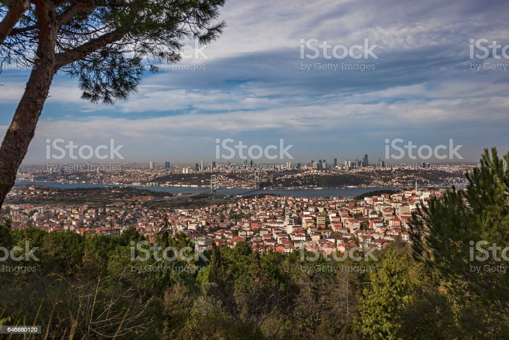 Istanbul from camlica stock photo