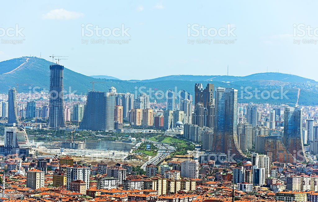 Istanbul from the bird's-eye view stock photo