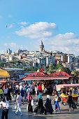 Istanbul Golden Horn fish sandwich