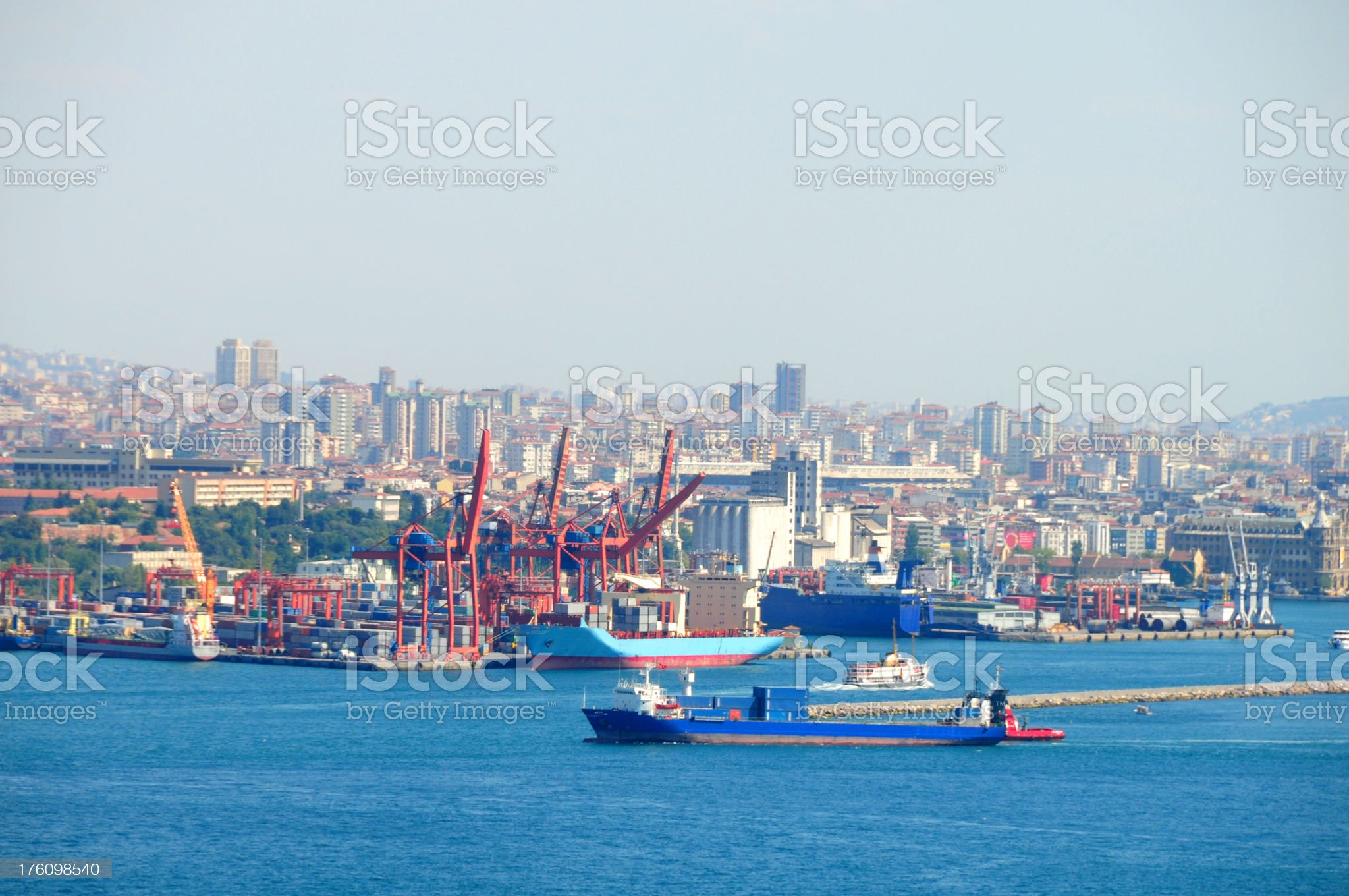 Istanbul harbour royalty-free stock photo