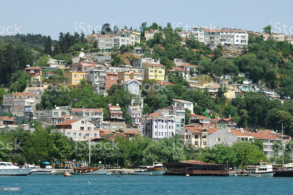 Istanbul houses stock photo