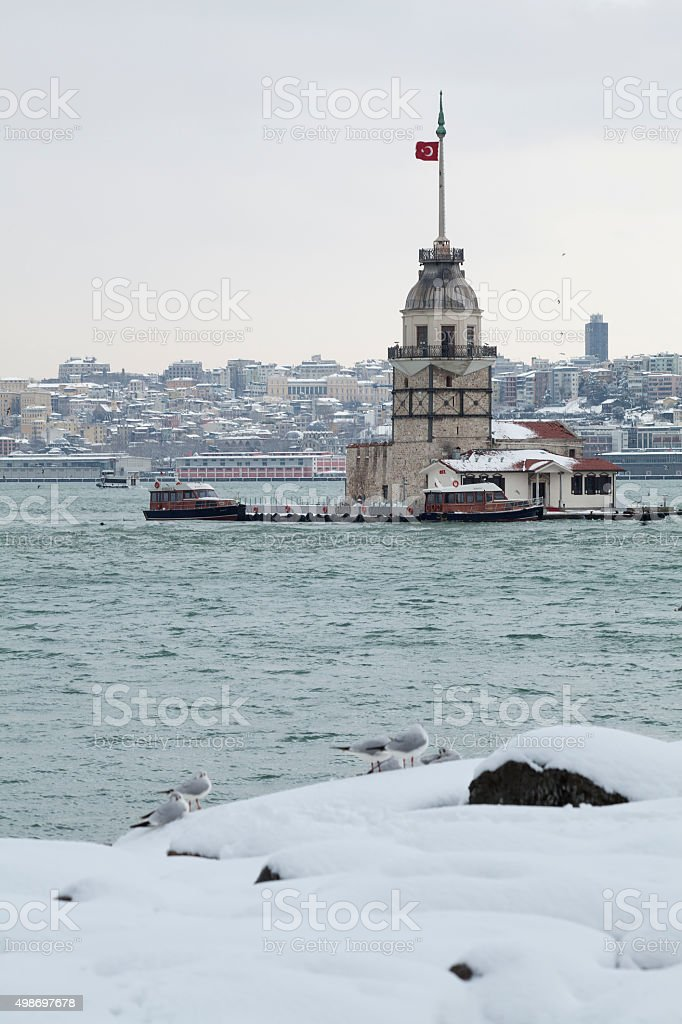 Istanbul in winter stock photo