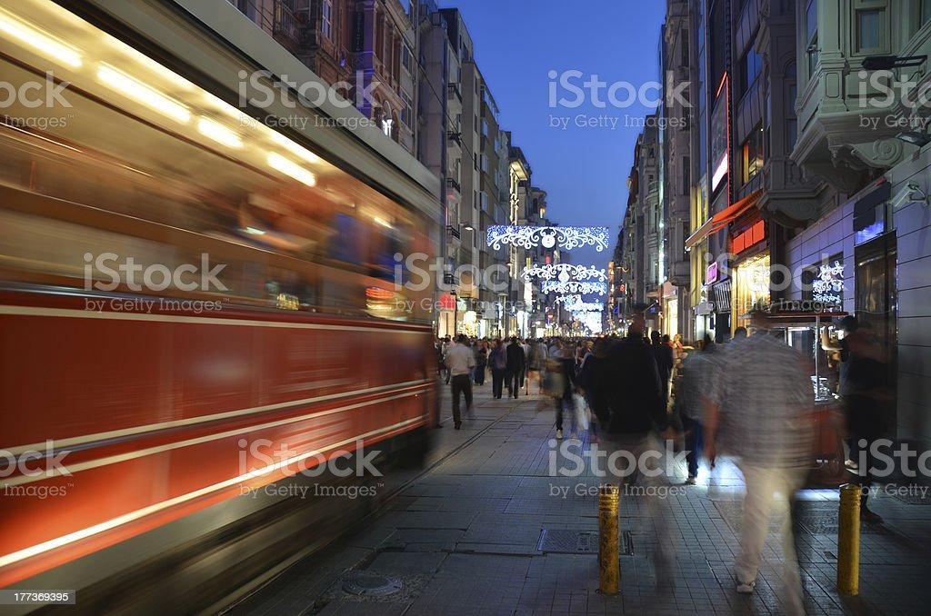 Istanbul - Istiklal street royalty-free stock photo